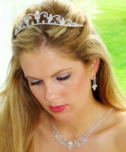 Duchess of Battenburg Crystal Tiara Set