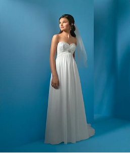 Strapless Empire Line Wedding Dress