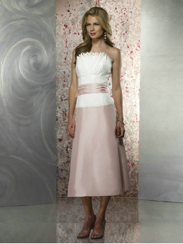 Taffeta Tea Length Dress