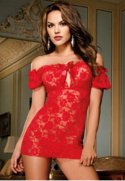 Off the Shoulder Lace Chemise