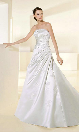 Shimmering Satin Wedding Gown