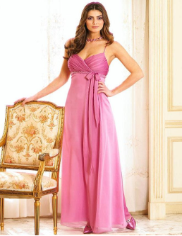 Empire Line Long  Bridesmaid Dress