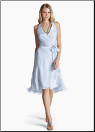 Halter Neckline Chiffon Bridesmaid Dress