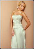 Charming Strapless Satin Bridesmaid Dress