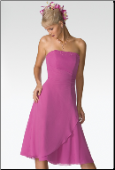Dainty Chiffon Strapless Bridesmaid Dress