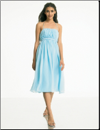 Chiffon Tea Length Bridesmaid Dress