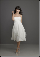 Empire Line Knee Length Grad Dress