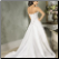 Empire Line Bateau Neckline Satin Wedding Gown - back view showing train and lace up back