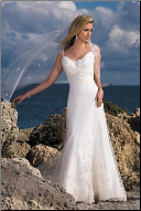 Lace and Satin Sweetheart Neckline