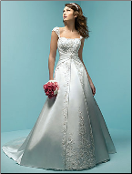 Princess Style Satin Wedding Dress