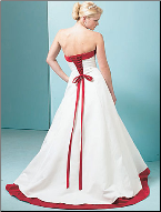 Budget Strapless Satin Wedding Dress