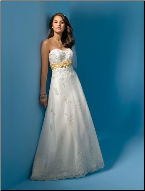 Empire Line Sweetheart Neckline Wedding Dress