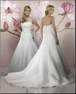 A-Line Organza and Satin Wedding Dress