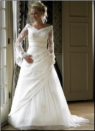 Satin and Taffeta with Lace