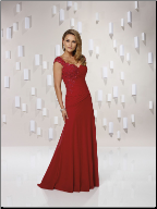 Elegant Chiffon Full Length Evening Gown