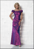 Elegant Off-the-Shoulder Taffeta Gown