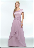 Charming Satin and Chiffon Mother of the Bride Dress