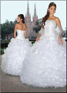 Satin and Organza Fantasy Quinceanera Ballgown