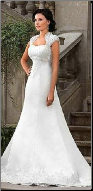 Lace over Satin Bridal Gown