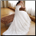 Satin Sweetheart Neckline Wedding Gown - back view showing train and back detail