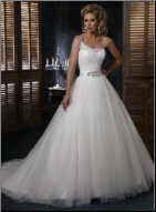 One Shoulder Organza Ballgown