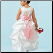 Sweet Satin Ballgown Flower Girl Dress showing back of gown