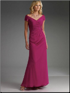 Elegant Satin and Chiffon Mother of the Bride Dress