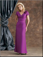 Charming Satin and Taffeta Mother of the Bride Dress