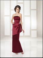 Charming Strapless Satin Gown