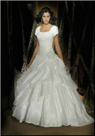 Modest Satin and Organza Ballgown