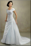 Modest Organza Wedding Gown