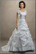 Modest Taffeta Wedding Gown
