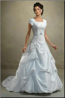 Modest Taffeta Ballgown with Lace