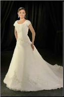 Classic Satin and Organza Wedding Gown