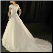 Classic Satin and Organza Wedding Gown - back of gown showing elegant skirt and train