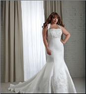 Full-Figure Halter Neckline Satin and Lace