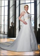 Halter Neckline Plus Size Satin Wedding Dress