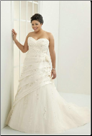 Plus Size Sweetheart Neckline Taffeta and Tulle