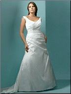 Beautiful Taffeta Wedding Gown