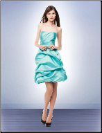 Chic Strapless Satin Bridesmaid Dress