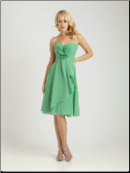 Alluring Strapless Chiffon Bridesmaid Dress