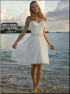 Strapless Sweetheart Neckline Knee Length Grad Dress