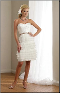 Knee Length Sweetheart Neckline Strapless Dress