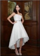 Lace and Organza High-Low Wedding Dress