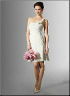 One Shoulder Short Wedding Dress