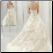 Taffeta Wedding Ball Gown - back of gown showing train and elegant lace-up back