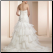 Strapless Organza Fit and Flare Ruffle Gown back of gown