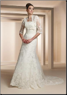 Empire Line Lace Wedding Gown