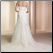 Mermaid Style Lace Wedding Gown - back of gown showing train