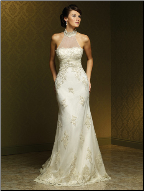 Halter Neckline Lace and Tulle Bridal Gown